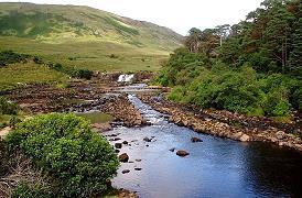 Les cascades Aasleagh Fallsh